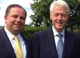 Christopher Ruddy and Bill Clinton