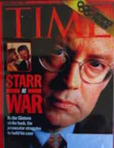 Ken Starr appeared to be enemy of HIllary Clinton