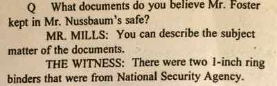 Documents in Vince Foster's safe