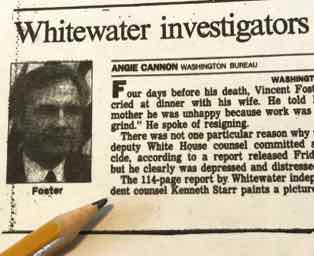St. Paul Pioneer Press on Vince Foster Report